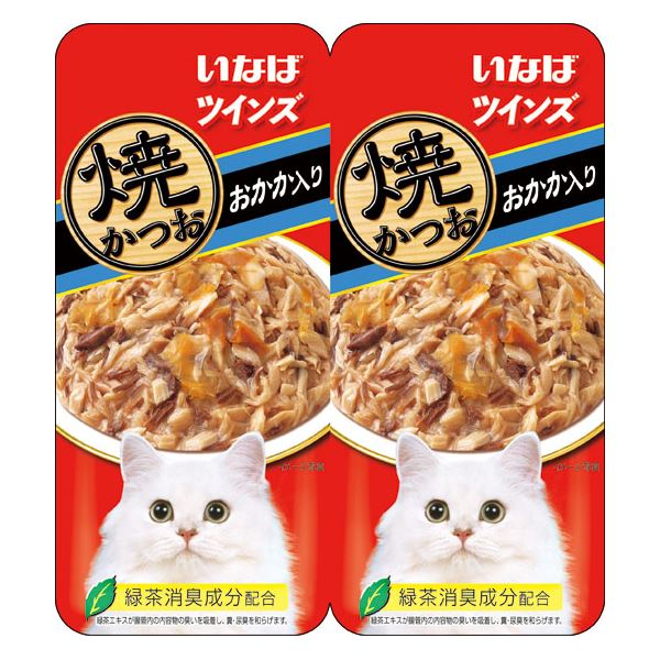 (まとめ)いなば 焼かつお ツインズおかか入り 70g (35g×2) (ペット用品・猫フード)【×48セット】