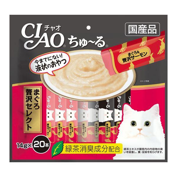 (まとめ)CIAO ちゅ~る まぐろ 贅沢セレクト 14g×20本 (ペット用品・猫フード)【×16セット】