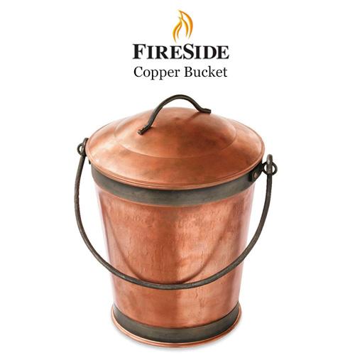 暖炉用灰入れ バケツ コッパーバケツ 風合いの変化を楽しめる銅製の灰取りバケツ キャンプ グランピング ベランピング おしゃれ 人気