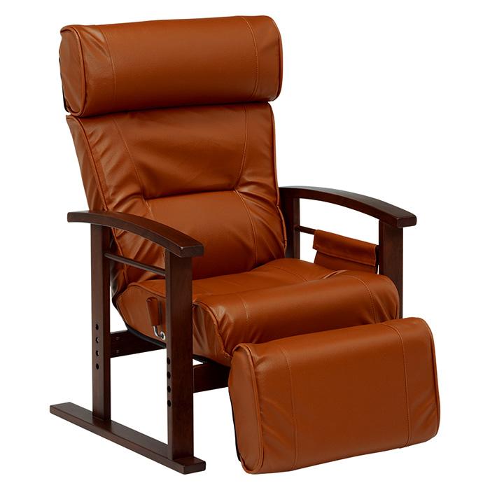 高座椅子(ブラウン) LZ-4758BR 2101759800 【送料無料】