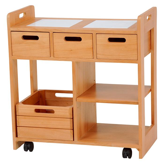 キッチンワゴン(ナチュラル) MUD-6409NA 2101760500