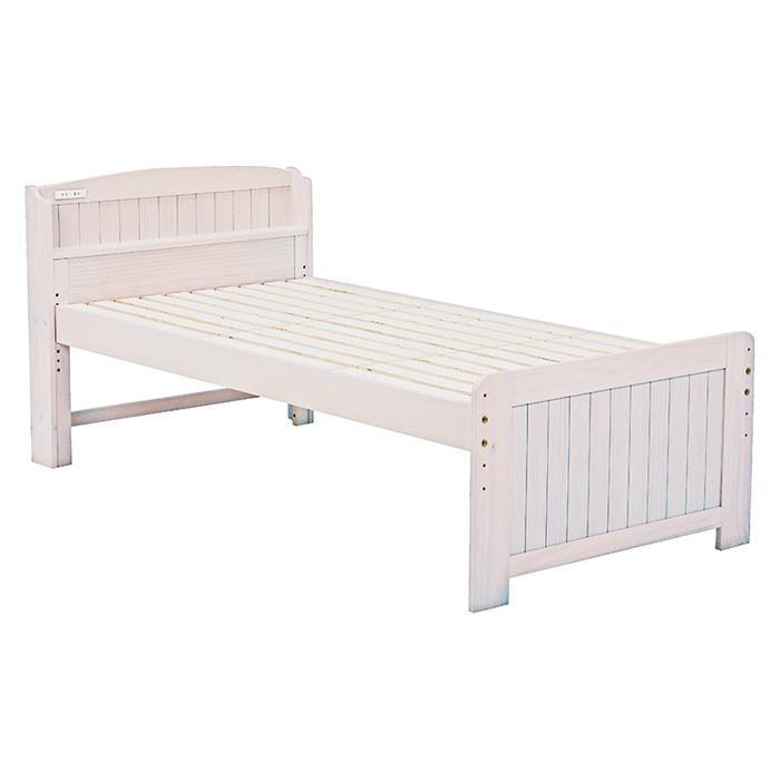 ベッド(ホワイトウォッシュ) シングル MB-5016S-WS 2101787300 【送料無料】