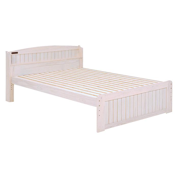 ベッド(ホワイトウォッシュ) ダブル MB-5113D-WS 2101790800 【送料無料】