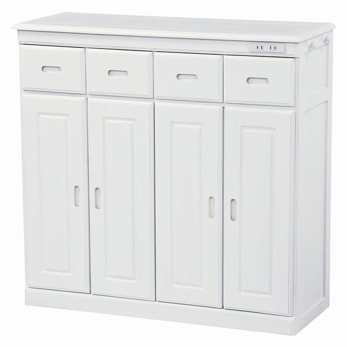 キッチンカウンター(ホワイト) MUD-6134WH 【送料無料】
