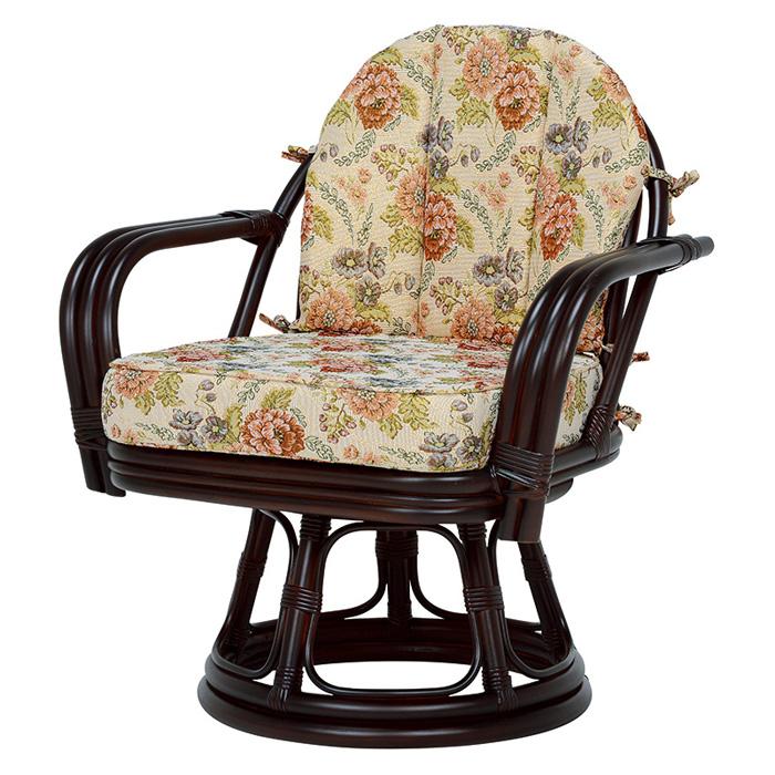回転座椅子(ダークブラウン) RZ-933DBR 【送料無料】