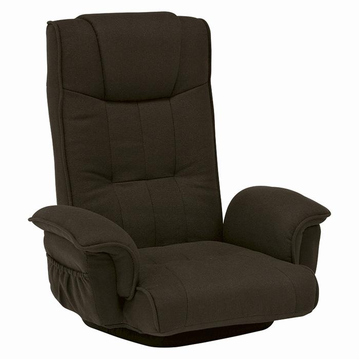 回転座椅子(ブラウン) LZ-4272BR (2台セット) ※バラ売り不可 【送料無料】