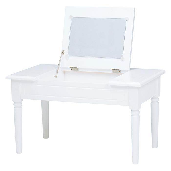 コスメテーブル(ホワイト) MT-6558WH 【送料無料】