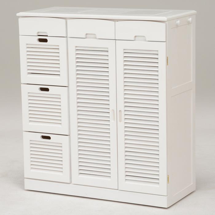 キッチンカウンター(ホワイト) MUD-6828WH 【送料無料】