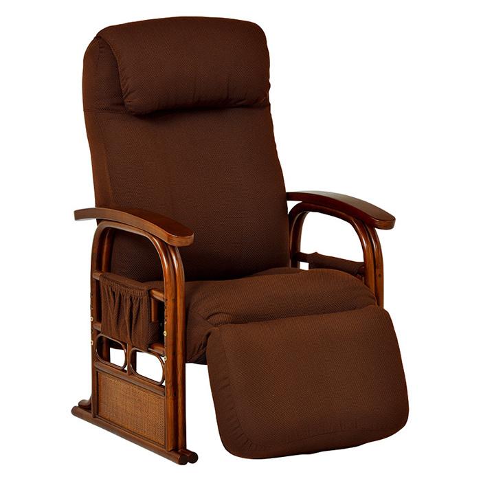 ギア付き座椅子(ブラウン) RZ-1259BR 【送料無料】