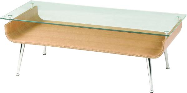 ガラステーブル NET-301 【ナチュラル】