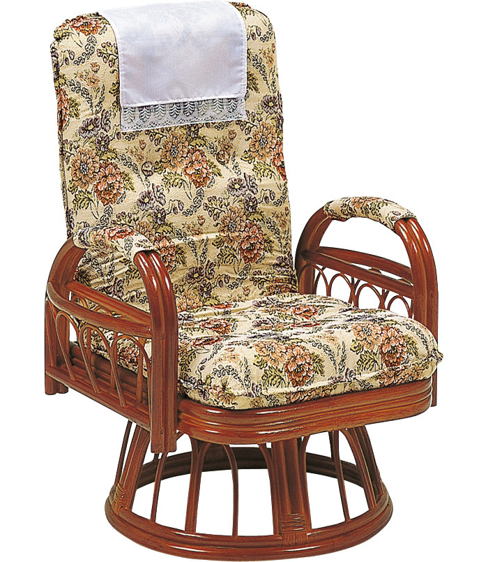 ギア回転座椅子 ラタン座椅子 RZ-923
