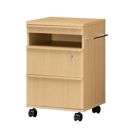 ベッドで寝た状態で使いやすい収納家具 コンタブル ミドルテレビボード 幅48cm×奥行き45cm×高さ75cm (ナチュラル ダークブラウン)  (ナチュラル / ダークブラウン)
