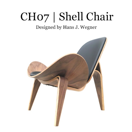ハンス・J・ウェグナー 北欧家具 リプロダクト チェア リラックス デザイナーズ スリーレッグド・シェルチェア CH-07 おしゃれ 人気(ウォールナット / アッシュ)