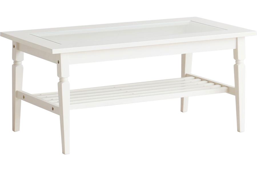 ine reno Living ご注文で当日配送 オンラインショップ Table ガラス WH ホワイト