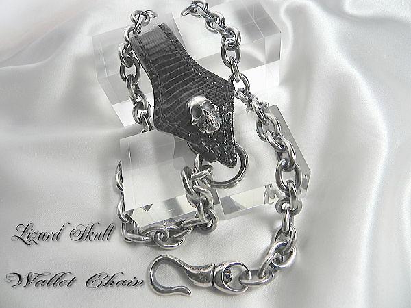 リザードスカルウォレットチェーン ウォレットチェーン シルバー メンズアクセ スカル Wallet Chain ハード系 メンズアクセサリー シルバーアクセサリー Silver925 ハンドメイド ブランド<SPREAD PIRATES>【auktn】 ポイント5倍 送料無料