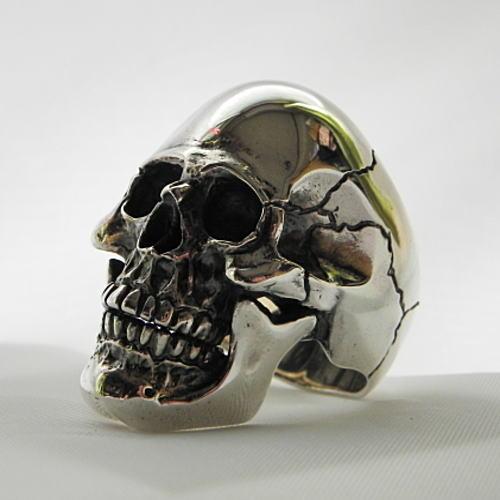 髑髏の指輪 スカルリング 髑髏リング ドクロリング ハード系リング メンズリング スカル シルバーリング ハンドメイド 日本製 ブランド<銀燭> <送料無料>【auktn】