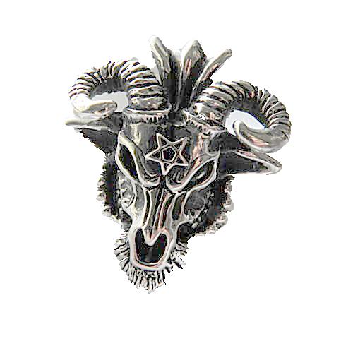 サバトリング デビルリング メンズアクセ バフォメットリング メンズリング ハード系リング ドラゴン スカル 悪魔 Silver925 日本製 ブランド<PURPLEHAZE>【auktn】【送料無料】