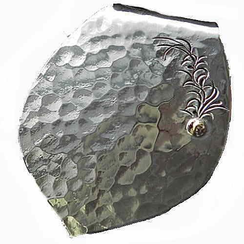 クレスト(エバーグリーン)マネークリップ シルバー製マネークリップ メンズアクセサリー 盾型マネークリップ 個性的マネークリップ シルバーアクセサリー Silver950 永久品質保証あり 日本製 ハンドメイド ブランド<AJINA>【auktn】