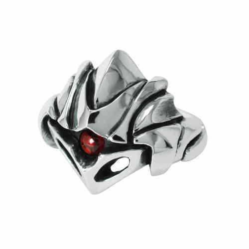 シルバーリング 兜-kabuto メカニックジュエリー メンズリング 石付きリング メンズアクセサリー 個性的リング ハンドメイド 日本製ブランド<WAGARAKU> 【auktn】<送料無料>