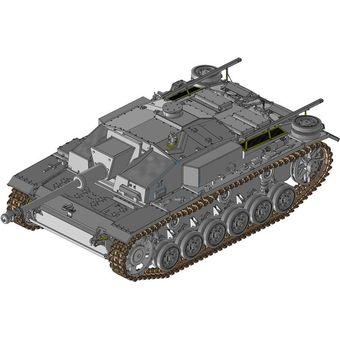 【中古】ドラゴン 1/35 WW.II ドイツ軍 III号突撃砲F型 7.5cm L/48搭載 最終生産型 プラモデル [併売:0PAD]【赤道店】