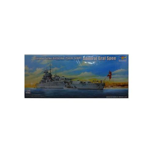 【中古】TRUMPETER 1/350 アドミラル・グラーフ・シュペー プラモデル[併売:0QDA]【赤道店】