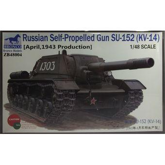【中古】 ブロンコモデル 1/48 SU-152重自走砲1943年4月生産型 初期 プラモデル [併売:0OOJ]【赤道店】