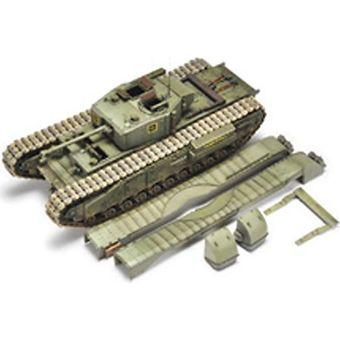 【中古】AFVクラブ 1/35 チャーチルMk.IIIQF75mmMkV砲搭載型 プラモデル[併売:0OQ5]【赤道店】