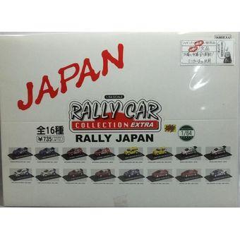 【中古】RALLY CAR COLLECTION EXTRA 1/64 ラリージャパン BOX 全16種コンプセット[外箱と中箱全て開封、ミニカーは未使用][併売:0PL4]【赤道店】