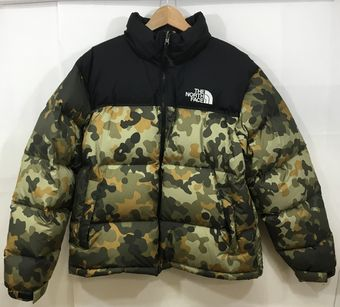 【中古】【THE NORTH FACE/ザ ノースフェイス】1996 RETRO Nuptse Jacket[表記サイズ:L/BLACK/CAMO/メンズ]【併売:001P】【上越店】