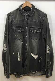 【中古】【Ksubi/スビ】デニムシャツ[表記サイズ:L/BLACK/メンズ]【併売:003M】【上越店】