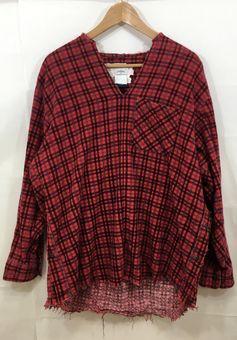 【中古】【OLDPARK/オールドパーク】プルオーバーシャツ[表記サイズ:F/RED/メンズ]【併売:0079】【上越店】