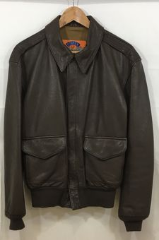 【中古】【COOPER/クーパー】A-2 ジャケット[表記サイズ:M/BROWN/メンズ]【併売:007D】【上越店】