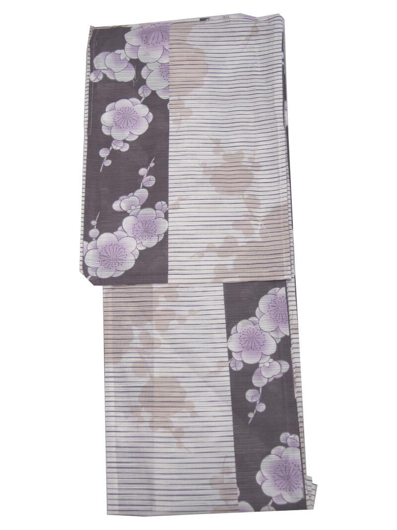 【新作・綿絽】浜松レトロゆかた・浴衣 【小豆色・染め分け】