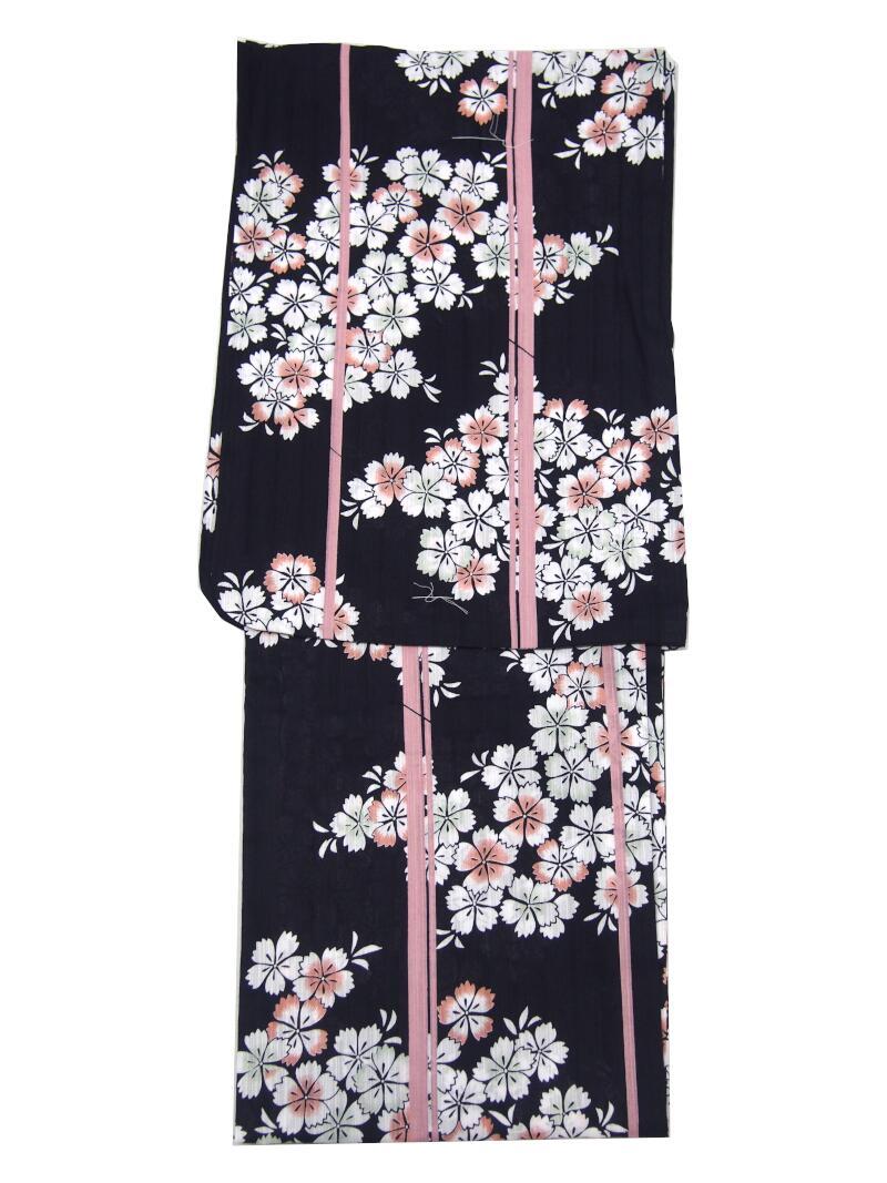 綿紅梅・ブランド【ef-de・エフデ】【黒・小桜・ピンクストライプ】