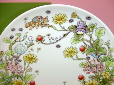 Noritake Totoro ( Special Collection ) 23 cm plate false chapter bone China.