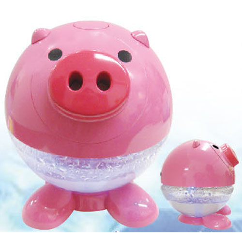 It is the air cleaner of ☆ cute duck and pig with air by power and aroma solution to water neatly♪