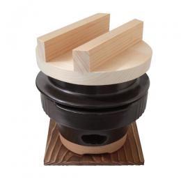 【送料無料】羽釜 1合ごはん炊きコンロセット(敷板付)6000-1622【ごはん釜】
