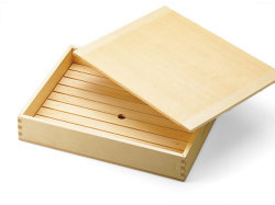 【送料無料】ヤマコーネタ箱(中) 目皿・木製蓋付35584 【業務用/寿司ネタ箱】