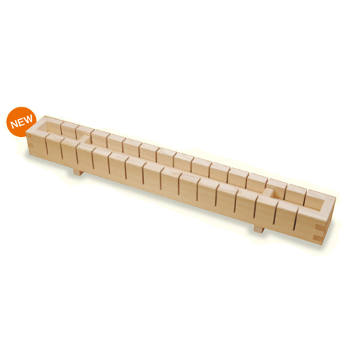 【送料無料】ヤマコー 押寿司器 16切 792443 【木製/切り込みガイド付き/押し寿司型】