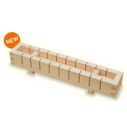 送料無料 ヤマコー 押寿司器 10切 切り込みガイド付き 押し寿司型 新作送料無料 木製 792450 低価格