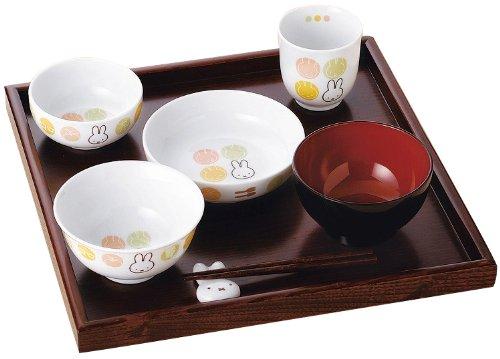 【送料無料】ミッフィーイングレーズ円(まどか)お食い初めセット 443721