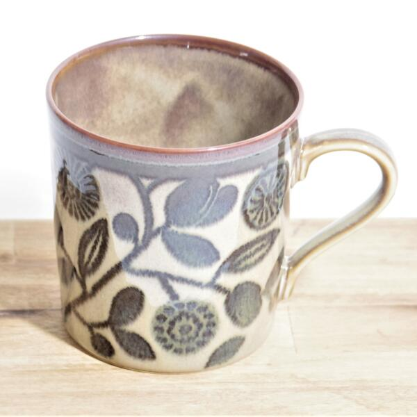 Clasico クラシコ マグカップ 花とオリーブ 北欧 ヴィンテージ 全店販売中 高い素材 34194966