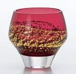 【送料無料】江戸硝子 紅玻璃 冷酒杯(純米酒) LS19610RAU