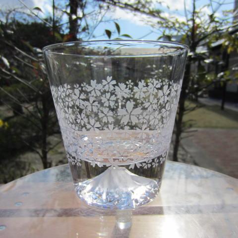 【送料無料】【贈り物ギフト】HIROガラス富士山グラス 桜