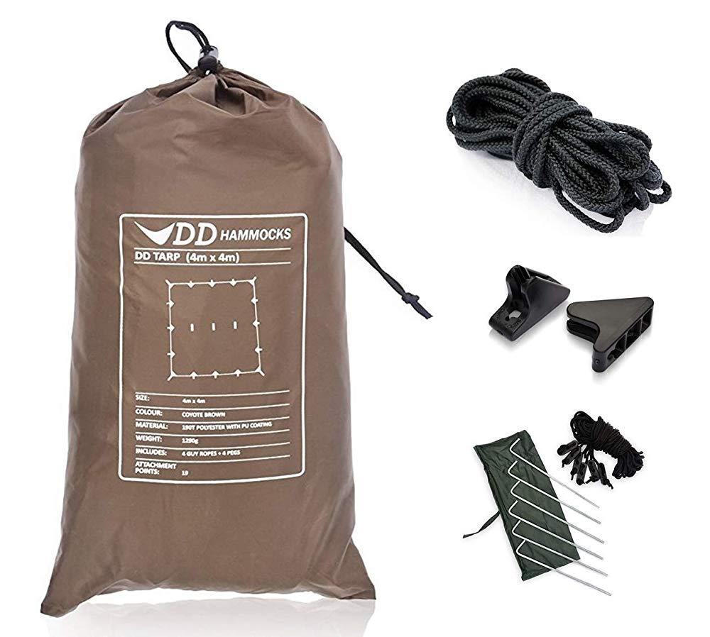 DDタープ 4×4 設営に便利なセット コヨーテブラウン 送料無料