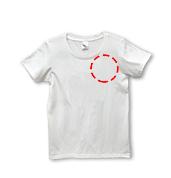 ユニカオリジナルTシャツクスリエオーダーワンポイント印刷/全5サイズ(男女兼用)