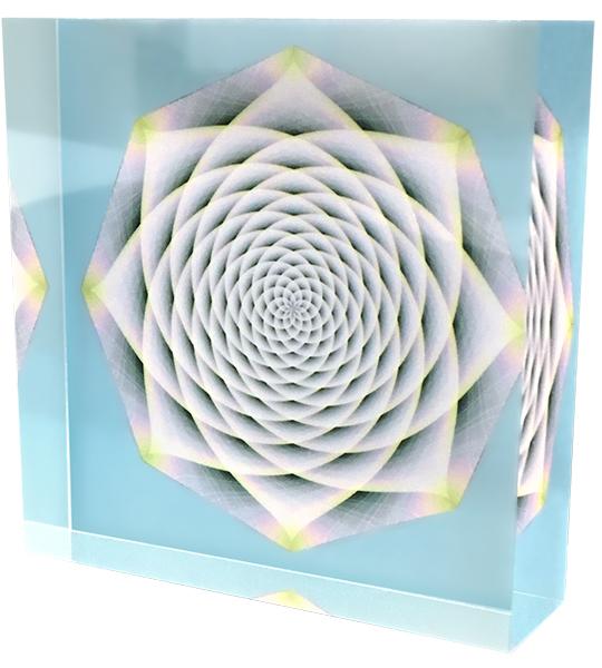 クスリエ クリスタルクスリエフラワーシャーベット 100×100×30mm 正規激安 高い素材