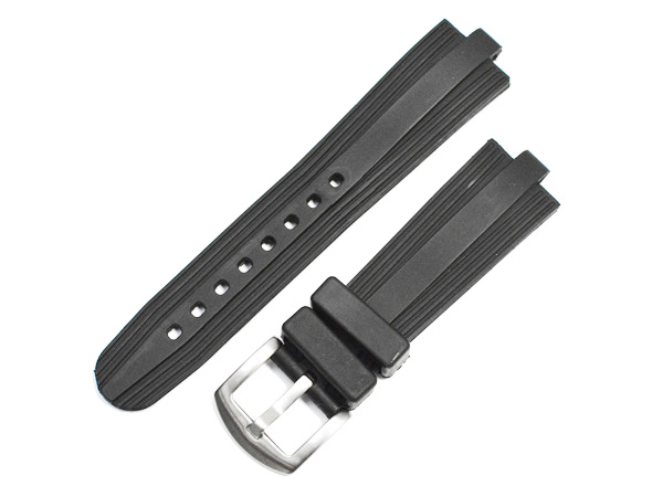 「ブルガリ(BVLGARI)向け」輸入王オリジナル ディアゴノ スクーバ用 ベルト ラバー ブラック 22/18mm 社外品 メンズ 腕時計用