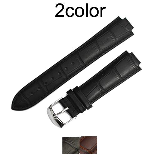 「 ルイヴィトン LOUIS VUITTON 向け」輸入王オリジナル タンブール用 ベルト 型押しクロコ 社外品 メンズ レディース 腕時計用