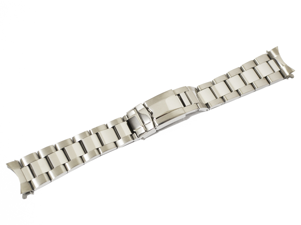 「ロレックス(ROLEX)向け」輸入王オリジナル デイトナ用 オイスター ブレス 20mm ツヤあり メンズ 腕時計用 社外品 GMTマスター ミルガウス などにも最適